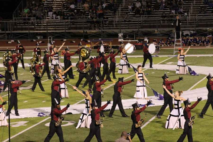 The Marching Maroons perform this year's show,