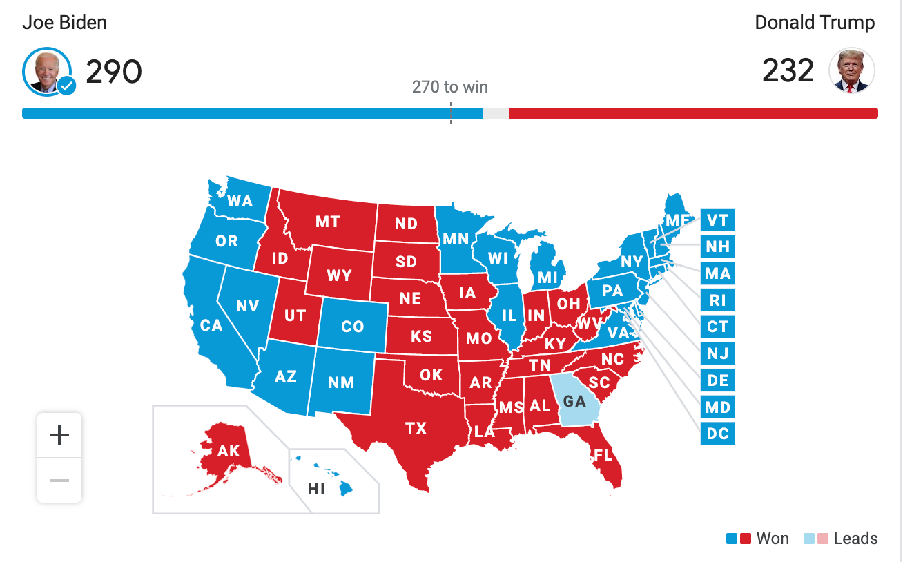 The Associated Press gives a final update on the votes in the 2020 Presidential Election.